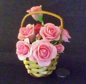 Craft Ideas  Buttons on Cold Porcelain Flower Basket