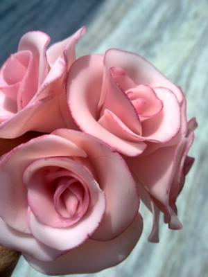 Pink Cold Porcelain Roses