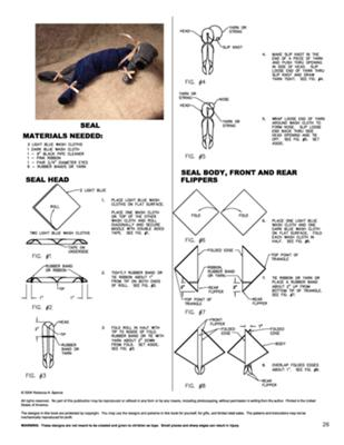 seal towel craft directions