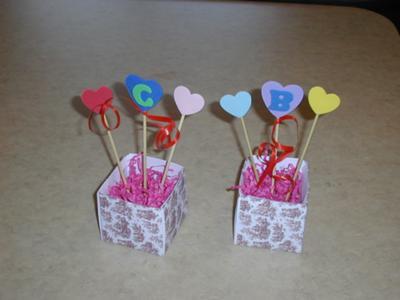 Place card valentine craft